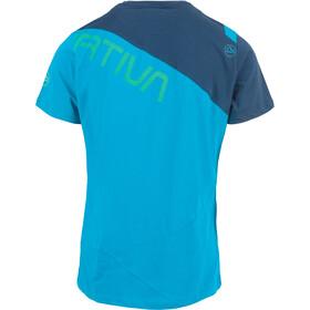 La Sportiva Float Bluzka z krótkim rękawem Mężczyźni, tropic blue/opal